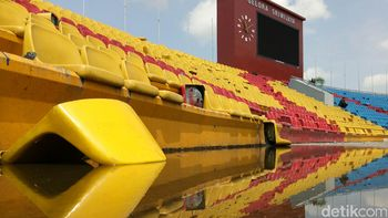 Before-After, Stadion Jakabaring Rp 250 M yang Kini Porak Poranda