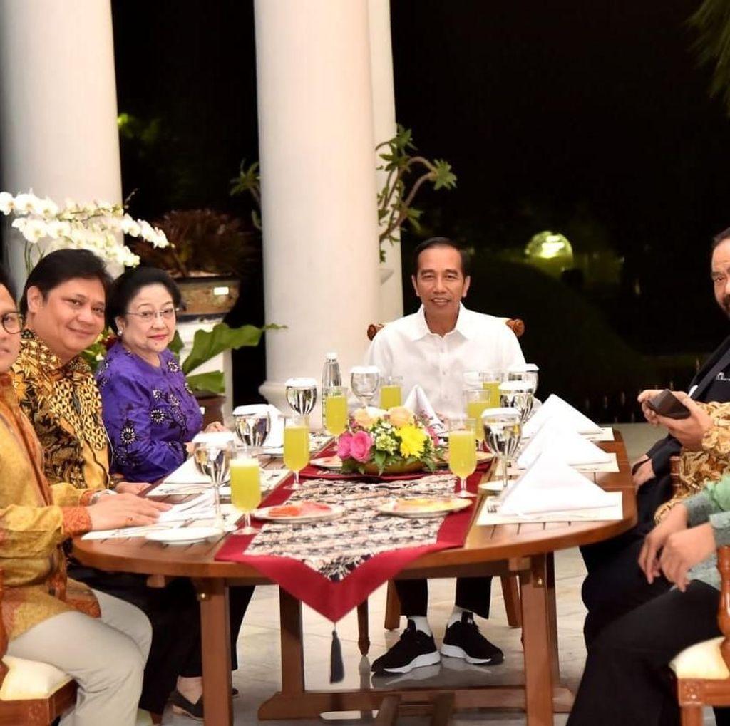 Dinner Koalisi, Jokowi Kembali Lakukan Diplomasi Meja Makan