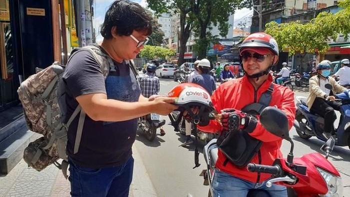 Driver Go-Viet di Vietnam. Foto: Dok. genk.vn