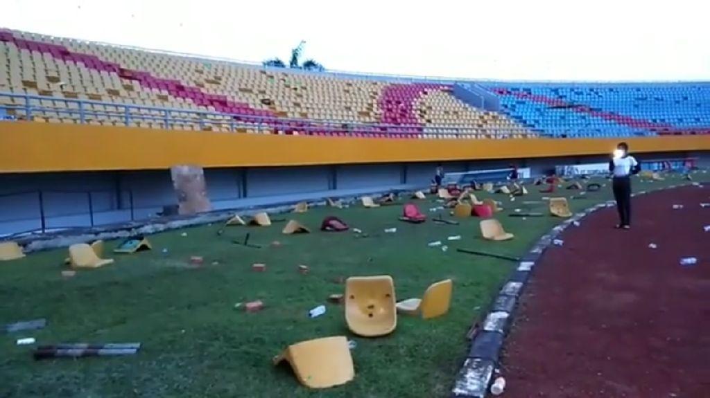 Suporter Rusak Stadion, Sriwijaya FC Didenda Rp 150 Juta