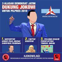 Projo Pamer 3 Alasan Demokrat Jatim Dukung Jokowi