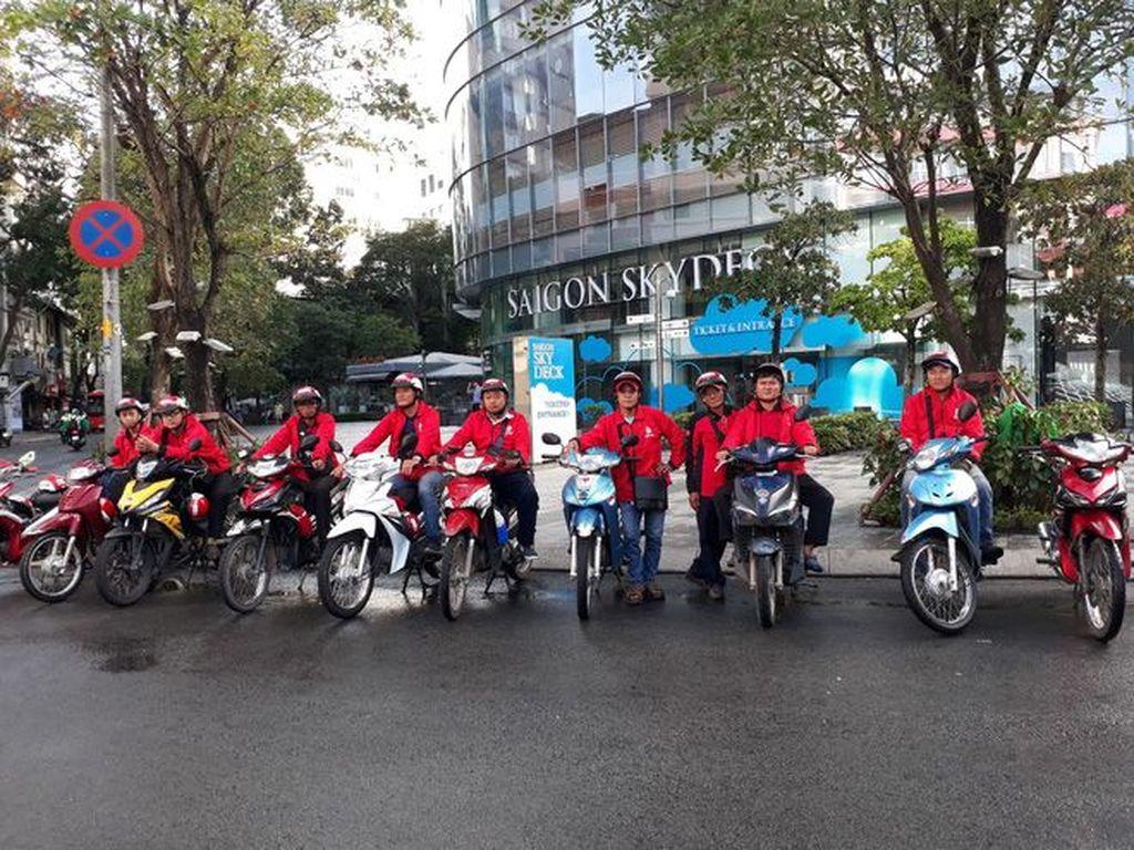 Untuk sementara ini, Go-Bike dan Go-Send menjadi dua layanan diujicobakan oleh Go-Viet selama lima hari di beberapa distrik di kota Ho Chi Minch City. (Foto: Dok. genk.vn)