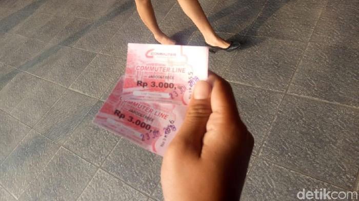 Tiket KRL. Foto: Peti/detikcom