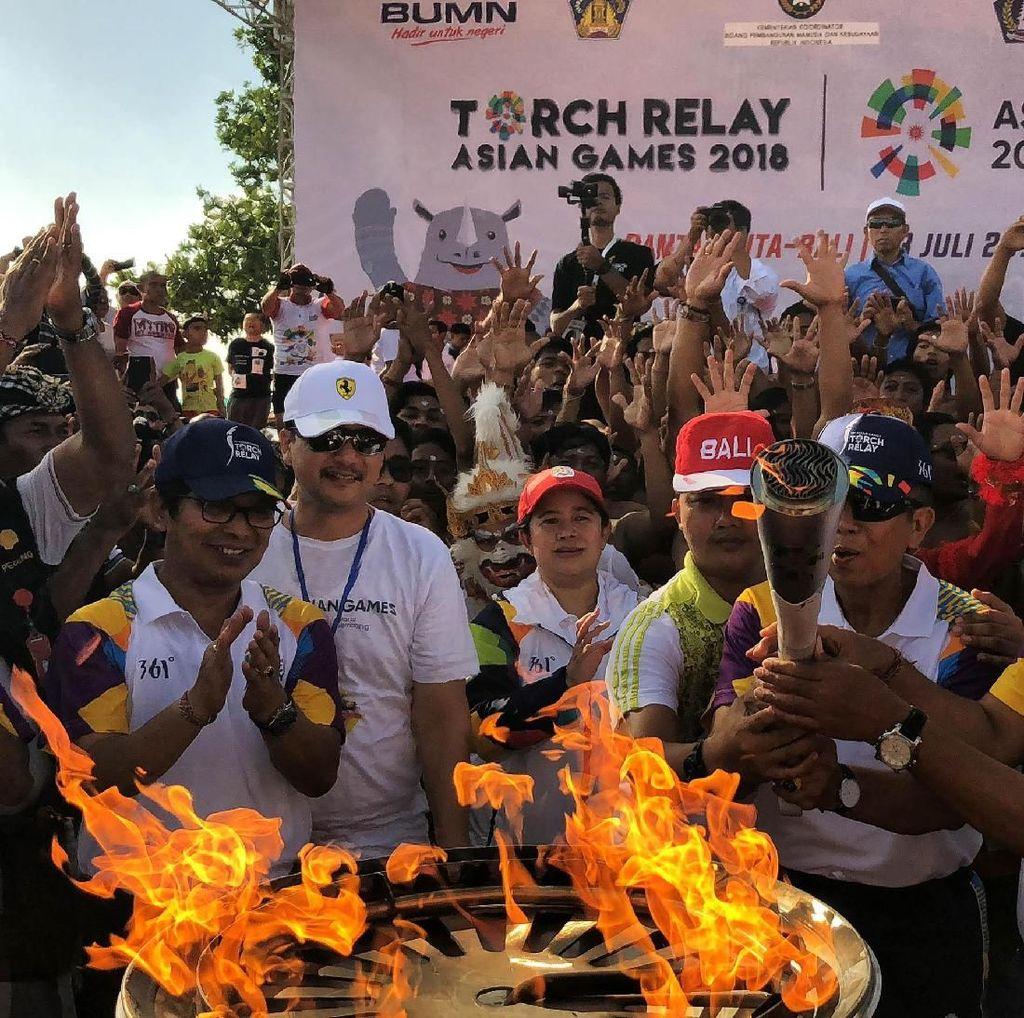 Obor Asian Games 2018 Tiba di Bali