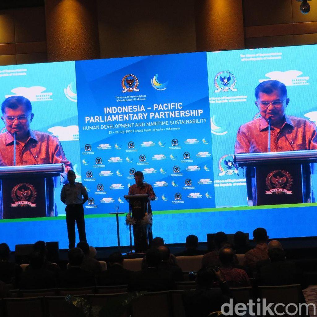JK Bicara Soal Illegal Fishing di Forum Parlemen Indonesia-Pasifik