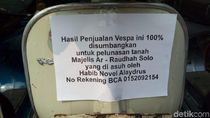 Habib Novel Solo Amanahkan Vespa Ini Dijual untuk Amal