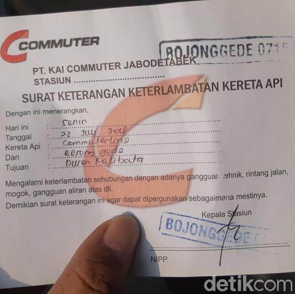 Permintaan Surat Terlambat di Stasiun Bojonggede dan Depok Normal