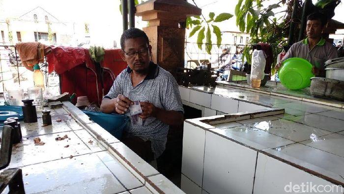 Pedagang ayam Gunungkidul/Foto: Usman Hadi/detikcom