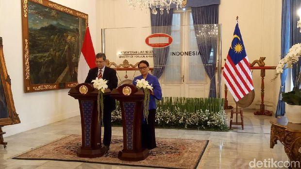 Pertemuan Menlu RI dan Malaysia