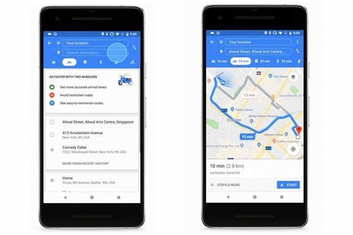 Google Maps untuk Pemotor