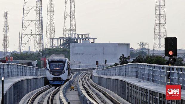 LRT Palembang sudah beroperasi.