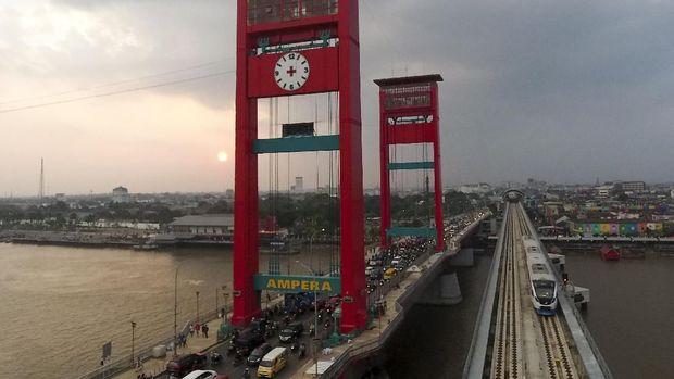 LRT Palembang mulai uji operasi sejak 23 Juli lalu