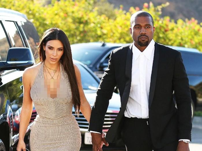 Kim Kardashian dan Kanye West. Foto: Istimewa