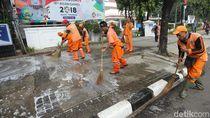 Perbaikan Trotoar Senayan-Thamrin Dikebut, Seperti Ini Kondisinya