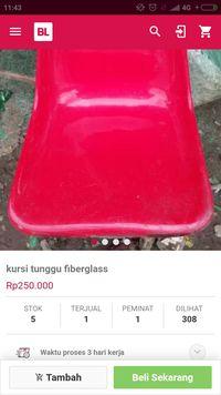 Kursi Seperti di Stadion Jakabaring Dijual Online Rp 400.000/Unit