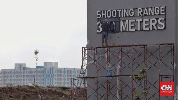 Venue menembak masih belum 100 persen rampung.