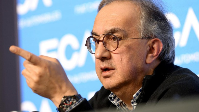 Sergio Marchionne dalam jumpa pers bulan Juni lalu Foto: REUTERS/Massimo Pinca/File Photo
