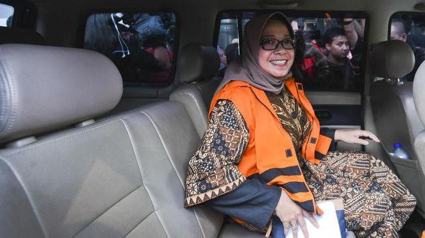 Eni Maulani Saragih, kader Partai Golkar yang jadi tersangka suap PLTU Riau-1, di Jakarta, Senin (24/7)