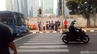 Berikut ini adalah salah satu penampakan pelican crossing yang sudah ada di salah satu kawasan Jakarta. Foto: Peti/detikcom