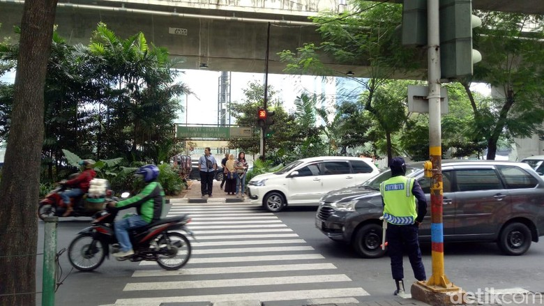 Pelican crossing di Jakarta. Foto: Peti/detikcom