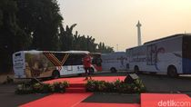 100 Bus Wonderful Indonesia Layani Atlet Asian Games