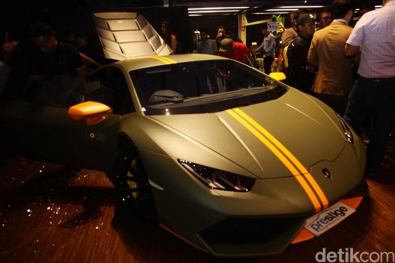 Mobil mewah Lamborghini yang cuma 1 unit di Indonesia diimpor oleh Prestige Image Motorcars. Foto: Pradita Utama