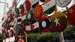 Kerennya Hiasan Bendera Peserta Asian Games dari Tampah