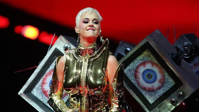 PERTH, AUSTRALIA - JULY 24:  Katy Perry performs at Perth Arena on July 24, 2018 in Perth, Australia.  (Photo by Paul Kane/Getty Images)