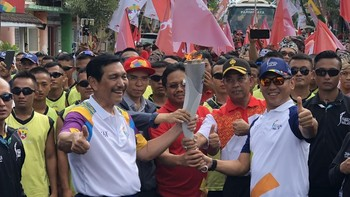 Api Obor Asian Games Mampir di Lombok