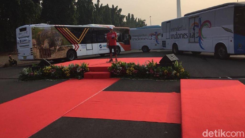 100 Bus Wonderful Indonesia Siap Angkut Peserta Asian Games