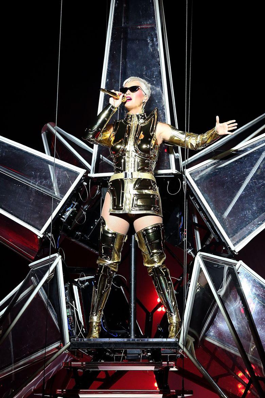 Katy Perry saat tampil di Perth, Australia pada Selasa (24/7) lalu.Paul Kane/Getty Images