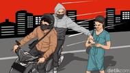 Penyerang Sejoli Terekam CCTV di Bandung Bawa Kabur Ponsel Korban