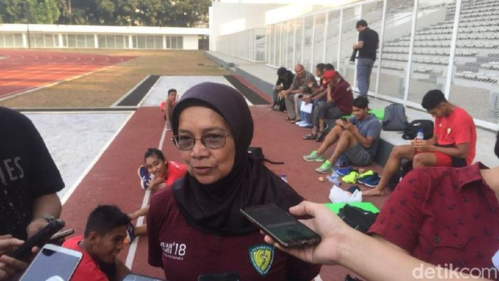 Eni Nuraeni diganjar predikat pelatih terbaik Asia. (Mercy Raya/detikSport)