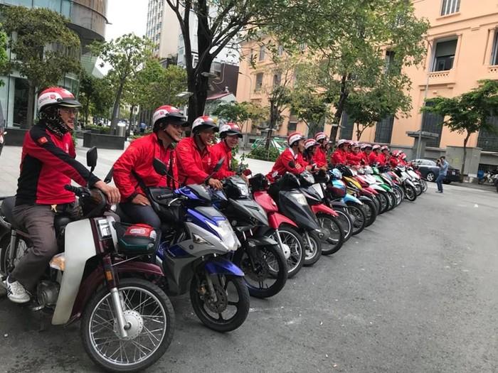 Driver Go-Viet di jalanan Vietnam. Foto: Facebook CLB Go-Viet HCM