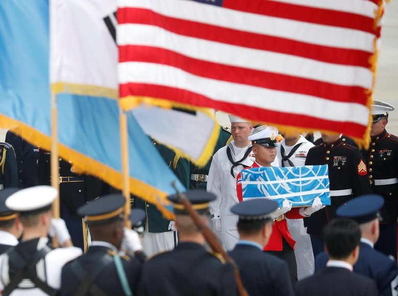 Gugur di Perang Korea, Jasad Tentara AS Dipulangkan dari Korut