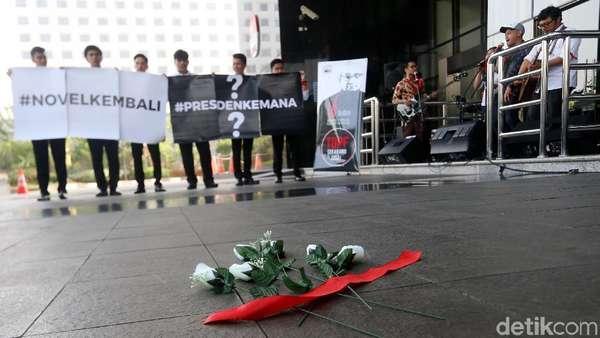 Ramai-ramai Sambut Novel di KPK, Jokowi ke Mana?