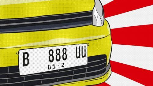 Pelat Nomor Putih Kendaraan