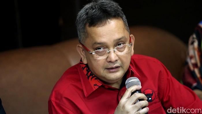Anggota Komisi III Fraksi PDIP Trimedya Panjaitan (Ari Saputra/detikcom)