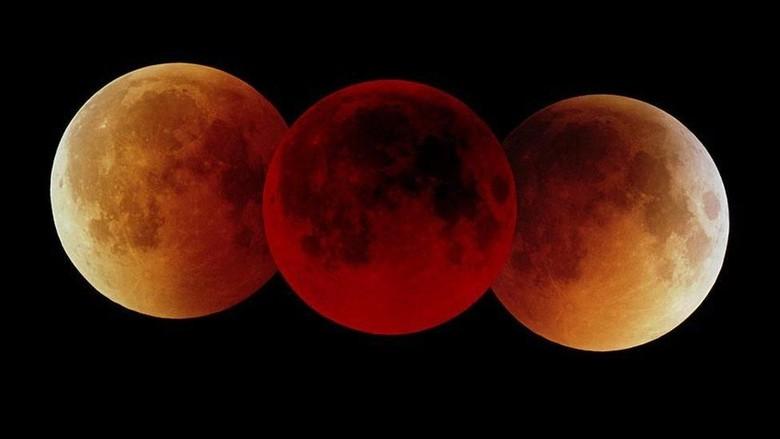 Berwarna Merah Gelap, Gerhana Bulan Total Terlama Masuk Puncaknya
