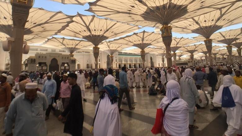 Suasana di Masjid Nabawi (Fuad Fariz/detikcom)