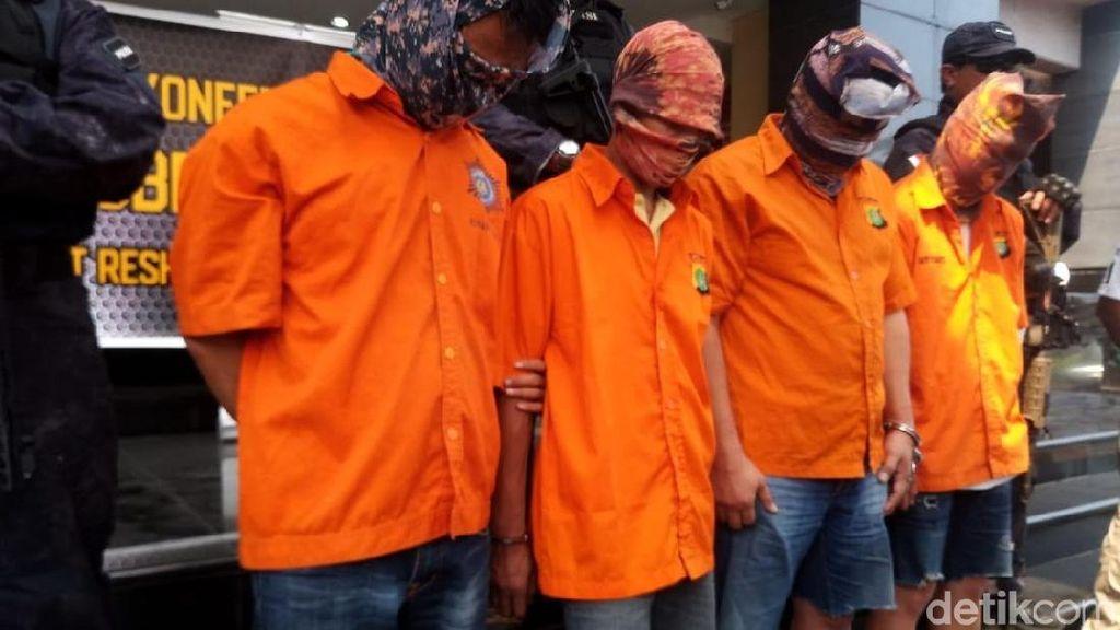 Foto: Penampakan 4 Tersangka Penembak Mati Pengusaha di Penjaringan