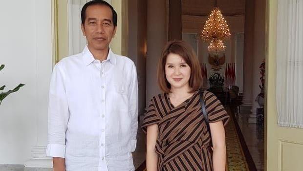 Grace Natalie dan Presiden Jokowi /