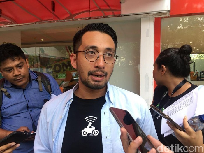 VP Corporate Communications Go-Jek Michael Say/Foto: detikINET/Agus Tri Haryanto