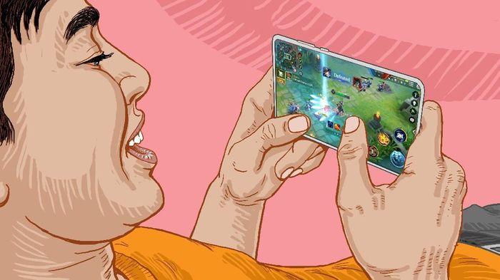 Ilustrasi game mobile. Foto: Ilustrasi: Edi Wahyono