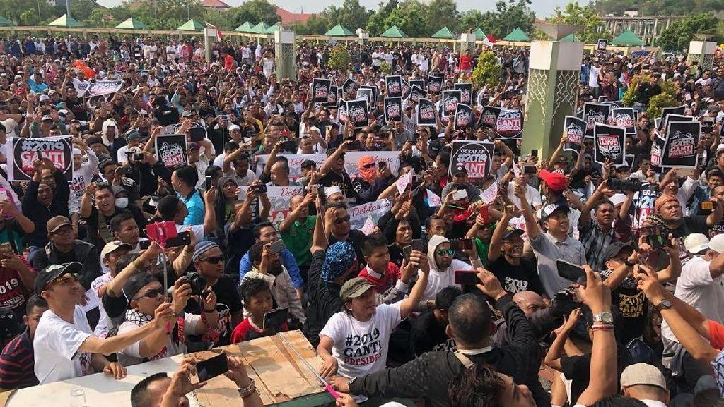 Deklarasi #2019GantiPresiden di Batam Tetap Jalan, Begini Keriuhannya