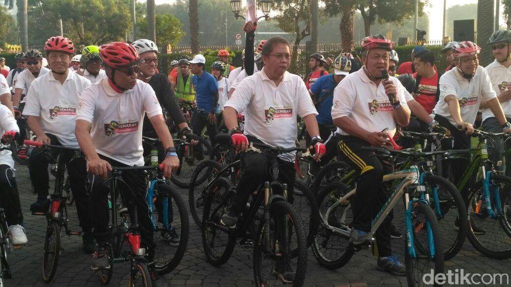Gowes  di CFD, Bos BI: Sudah 40 Tahun Nggak Bersepeda