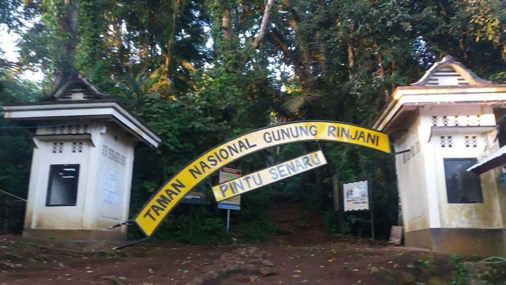 Penampakan Gerbang TN Rinjani Rusak Kena Gempa 6,4 SR