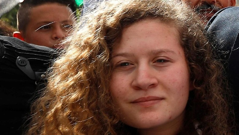 ABG Palestina Penampar Tentara Israel Bebas dari Bui