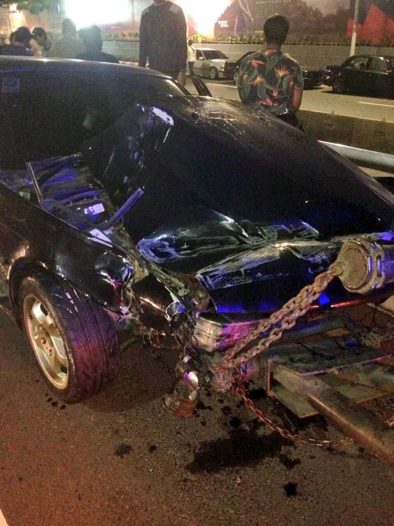 Kecelakaan Foto: Dok. Twitter TMC Polda Metro Jaya