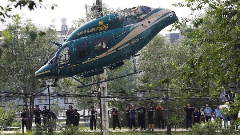 Helikopter Jatuh di Beijing, Begini Penampakannya